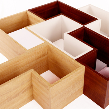 スペースに合わせて組合わせ自由なパズルラック