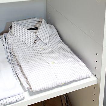 畳んだ衣類がぴったり収まる奥行