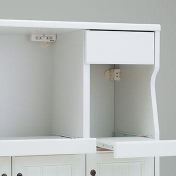 家電収納に便利なスライド棚