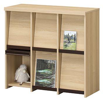 持ちやすく、しっかり本を支える木製引手
